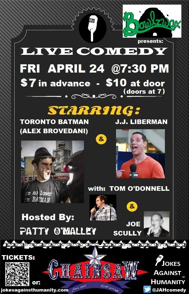 Chainsaw - Waterloo - Friday April 24 - Jokes Against Humanity